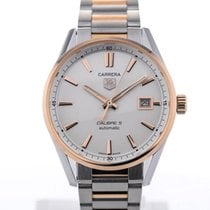 TAG Heuer Carrera Automatic 39 Steel Rose Gold Details Calibre 5
