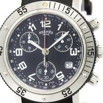 Hermès Polished Hermes Clipper Diver Chronograph Quartz Mens...