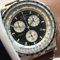 Breitling Jupiter Piot Quarz Chronograph mit Vintage Ecru Band