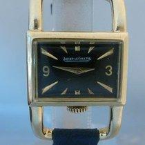 Jaeger-LeCoultre vintage jlc etrier gold big size rare black dial