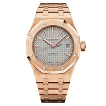 Audemars Piguet Royal Oak Selfwinding Rose Gold Silver Dial 37mm