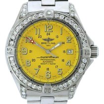 Breitling Superocean Ladies' Yellow Dial Stainless Steel...