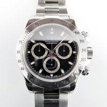 Rolex Oyster Daytona 116520 black steel 1A conditon, like NEW