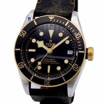 Tudor Heritage Black Bay 41 Aged Brown Aged Leather Strap Auto...