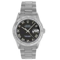 Rolex Men's Rolex Datejust Watch 16264 Black Roman Dial
