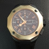 Baume & Mercier Riviera in rose gold and PVD steel case...