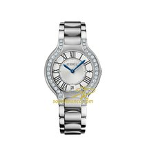 Ebel Beluga Steel Case with Diamonds, Blue Hands Silver Dial