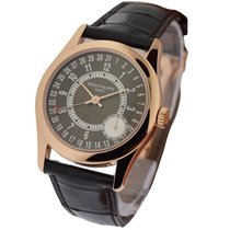 Patek Philippe 6000R-001 Mens Calatrava 6000R - Rose Gold on...