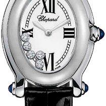 ショパール (Chopard) Happy Sport Oval 5 Floating Diamonds 277465-1005