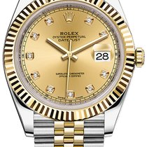 Rolex Datejust 41mm Steel and Yellow Gold 126333 Champagne...