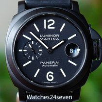 Panerai PAM 104 Luminor Marina Automatic Date with Black PVD...