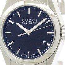 Gucci Polished Gucci Pantheon 115.4 Steel Quartz Unisex Watch...