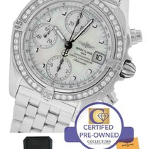Breitling Chrono Cockpit Diamond MOP Chronograph Stainless...