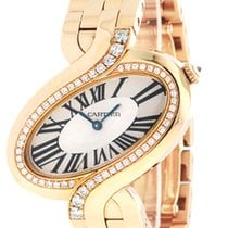 Cartier Delices De Diamond 18k Rose Gold Quartz Women Watch...