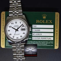 Rolex Datejust Stainless Steel Mens Watch White Dial Box/Paper...