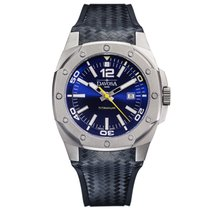 Davosa Swiss Titanium 16156045 Men Wrist Watch Black Leather...