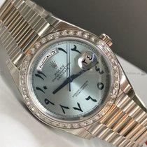 Rolex - Day Date 228396TB Diamond Bezel Blue Dial Platinum