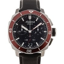 Alpina Seastrong Diver 44 Chronograph Black Dial