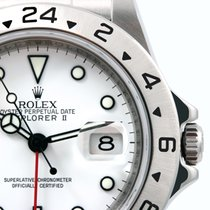 Rolex 2008 SS 40mm Explorer ll White Dial Bezel Engraved 3186...
