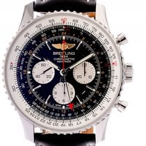 Breitling Navitimer GMT Stahl Automatik Chronograph 48mm
