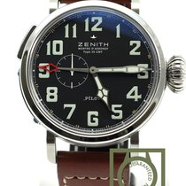 Zenith Pilot Type 20 GMT Aeronef brown strap 03.2430.693 NEW
