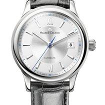 Maurice Lacroix Les Classique Date, Silver Dial, Black Leather...