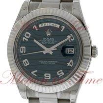 Ρολεξ (Rolex) Day-Date II President 41mm, Blue Wave Dial,...