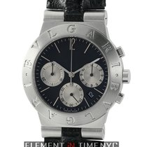 Bulgari Diagono Chronograph Steel Black Dial 35mm