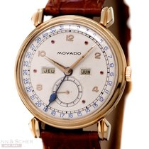 Movado Vintage Calendar Gentlemans Watch Ref-4820 18k Rose...