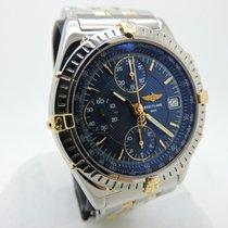 Breitling CHRONOMAT 2 TONE 18K GOLD STAINLESS STEEL BLUE DIAL...