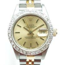 Rolex Lady-Datejust 26mm Diamond Bezel Two Tone Champagne  Dial