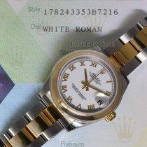 Rolex Datejust 18k Yellow Gold Steel Ladies Midsize Watch...