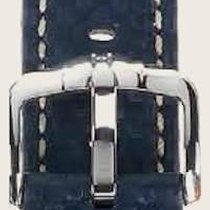 Hirsch Uhrenarmband Leder Carbon blau L 02592080-2-18 18mm