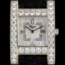 Chopard 18k White Gold MOP Dial Diamond Bezel H Watch 136621-1001