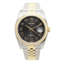 勞力士 (Rolex) Datejust Gold And Steel Black Automatic 116203BKCO...