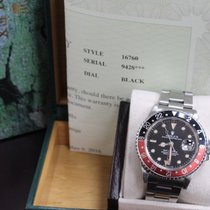 Rolex 16760 GMT Master II Fat Lady Coke Red & Black Steel