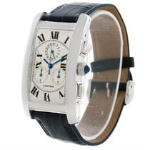 Cartier Tank Americaine Chronograph 18k White Gold Watch W2603356