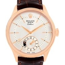 Rolex Cellini Dual Time Everose Rose Gold Automatic Mens Watch...