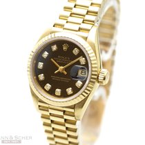 Rolex Lady Datejust Ref-69178 18K Yellow Gold Diamond Dial...