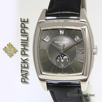 Patek Philippe Gondolo 5135 18k White Gold Calendario Mens...