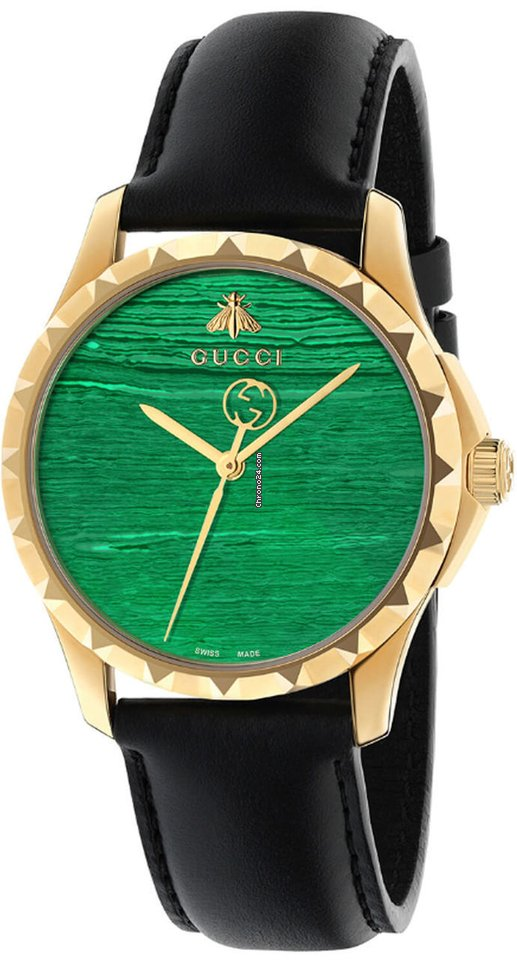bd76c331458 Gucci G- Timeless Malachite Green Dial 38MM Quartz Leather... for Php  36