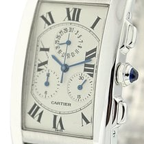 Cartier Tank Collection Tank Americaine Chronoflex 18k White...