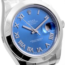 Rolex SS 41mm Datejust ll Blue Roman UNWORN - 116300