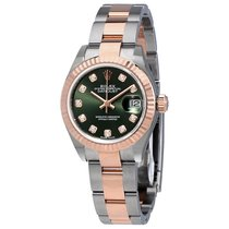 Rolex Oyster Perpetual Datejust Olive Green Diamond Dial...