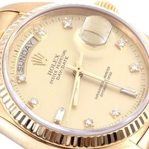 Rolex Mens 18K Gold Day-Date President - Factory Champagne 8+2...