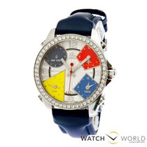 Jacob & Co. Five Time Zone Steel/Diamonds
