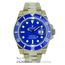 Rolex Submariner Date 18K White Gold - Blue Ceramic Bezel