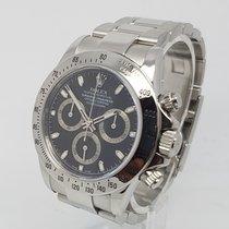 Rolex Daytona 116520 Black Dial Steel Mens Watch 2006 Complete...