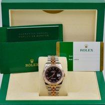 Rolex Unworn Datejust 36mm 116231  Black Roman Dial Jubilee