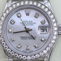 Rolex Datejust Ladies Diamond Mother Of Pearl Dial Diamonds...